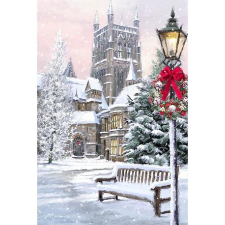 Рождественский Париж Алмазная вышивка мозаика Алмазное Хобби