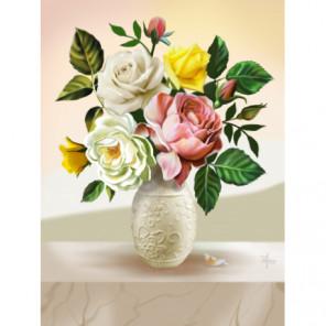 Букет из роз Алмазная вышивка мозаика Алмазное Хобби