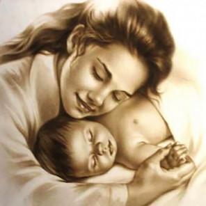 Мать и младенец Алмазная вышивка мозаика Алмазное Хобби