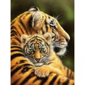 Тигрица с тигренком Алмазная вышивка мозаика Алмазное Хобби