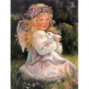 Ангел на поляне Алмазная вышивка мозаика Алмазное Хобби