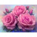 Розовые розы Алмазная вышивка мозаика Алмазное Хобби