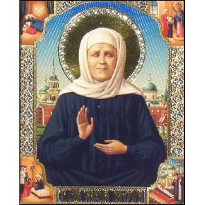 Икона Святой Матроны Алмазная вышивка мозаика Алмазное Хобби