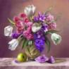 Букет из гиацинтов Алмазная вышивка мозаика Алмазное Хобби