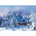 Избушка в зимнем лесу Алмазная вышивка мозаика Алмазное Хобби