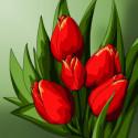 Первые цветы Алмазная вышивка мозаика Алмазное Хобби