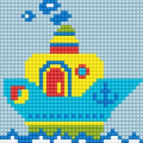 Кораблик Алмазная вышивка мозаика Алмазное Хобби