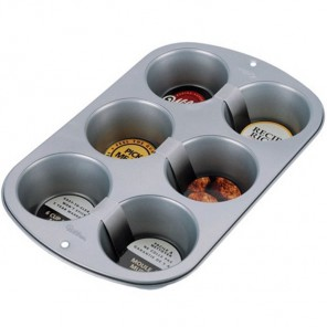 6 кексов Металлическая форма для выпечки Верный рецепт Wilton ( Вилтон )