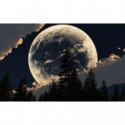 Луна за облаками Алмазная вышивка мозаика Алмазное Хобби