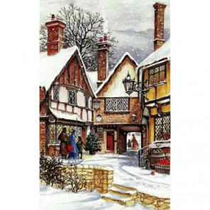 Город перед Рождеством Алмазная вышивка мозаика Алмазное Хобби