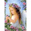 Ангел с цветами Алмазная вышивка мозаика Алмазное Хобби
