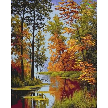 Золотая осень Алмазная вышивка мозаика Алмазное Хобби