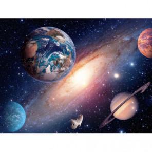 Планеты в космосе Алмазная вышивка мозаика Алмазное Хобби