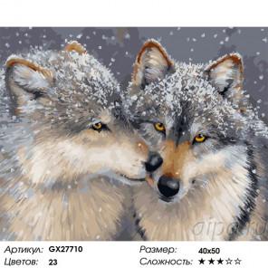 Сложность и количество цветов Нежное чувство Раскраска картина по номерам на холсте GX27710