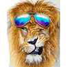 Модный лев Раскраска картина по номерам на холсте PK24050