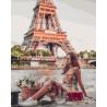 Лето в Париже Раскраска картина по номерам на холсте PK24025