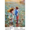 Сложность и количество цветов Танец на воде Раскраска картина по номерам на холсте Белоснежка 288-AS