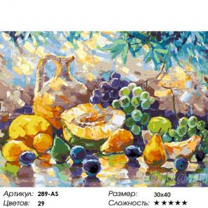 Сложность и количество цветов Фруктовое лакомство Раскраска картина по номерам на холсте Белоснежка 289-AS