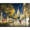 Вечерний свет Садового кольца Раскраска картина по номерам на холсте Белоснежка 227-AB