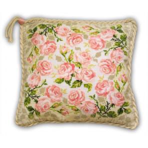 Розочки Набор для вышивания подушки Риолис 720