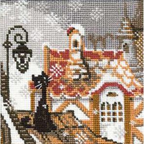 Город и кошки. Зима Набор для вышивания Риолис 610