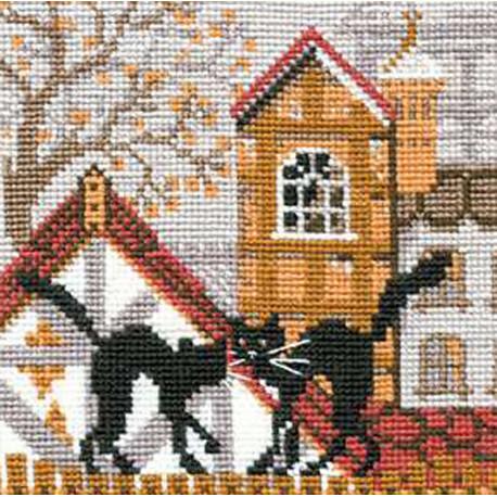 Город и кошки. Осень Набор для вышивания Риолис 613