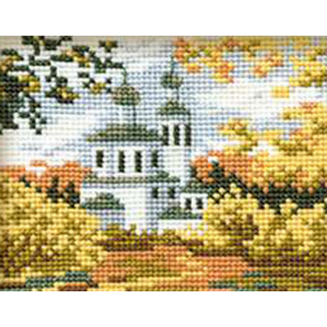Осень в деревне Набор для вышивания Риолис 631
