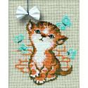 Котёнок с бантиком Набор для вышивания Риолис 671