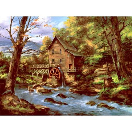 Водяная мельница Раскраска картина по номерам Plaid PLAID ...