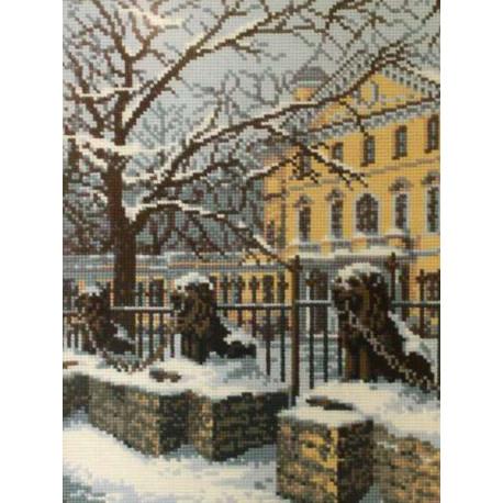 2_1 Зимний Петербург Набор для вышивания Риолис