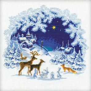 В рамке Рождество Набор для вышивания Риолис 793