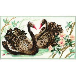 Чёрные лебеди Набор для вышивания Риолис 806
