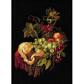 В рамке Натюрморт с апельсином Набор для вышивания Риолис 828
