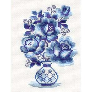 Гжель. Розы Набор для вышивания Риолис 839