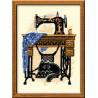 В рамке Швейная машинка Набор для вышивания Риолис 857