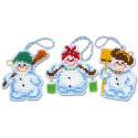 Снеговички Набор для вышивания новогодних игрушек Риолис