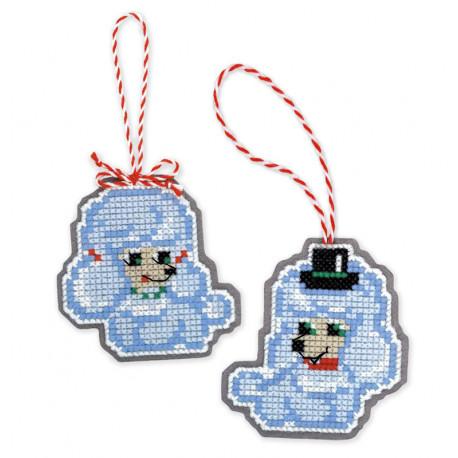 Собачки Набор для вышивания новогодних игрушек Риолис