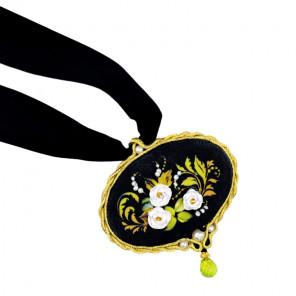 Белая роза Набор для вышивания кулона Риолис 1708АС