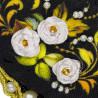 3_2 Белая роза Набор для вышивания кулона Риолис
