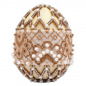 Капучино. Яйцо пасхальноео Набор для вышивания бисером Риолис