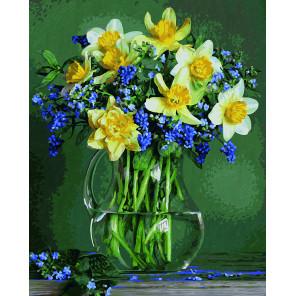 Букет весенних цветов Раскраска картина по номерам Schipper (Германия)