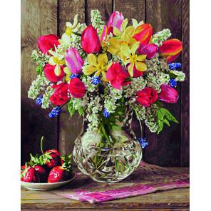 Цветы из домашнего сада Раскраска картина по номерам Schipper (Германия)