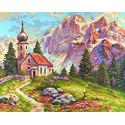 Церковь в Доломитах Раскраска картина по номерам Schipper (Германия)