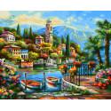 На озере Комо Раскраска картина по номерам Schipper (Германия) 9240798