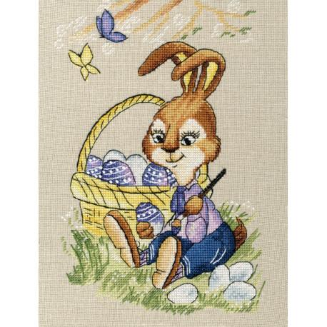 Пасхальный кролик Набор для вышивания Золотое Руно Д-063