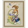 В рамке Пасхальный кролик Набор для вышивания Золотое Руно Д-063