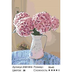 Количество цветов и сложность Турецкая гвоздика Раскраска по номерам на холсте Живопись по номерам Z1011513