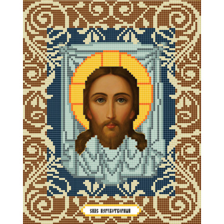Спас Нерукотворный Канва с рисунком для вышивки бисером Божья Коровка 0040