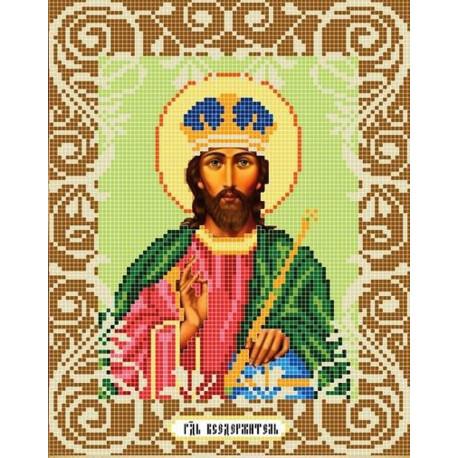 Господь Вседержитель Канва с рисунком для вышивки бисером Божья Коровка 0066