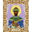 Святой Царь Николай Канва с рисунком для вышивки бисером Божья коровка